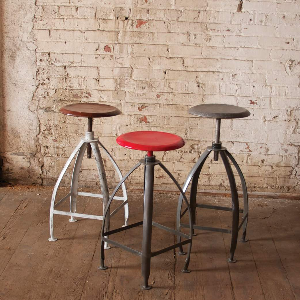 Industrial Metal Stool - Bello Lane
