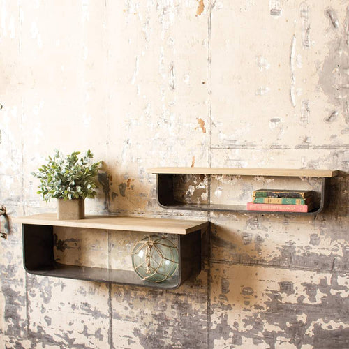 Open Metal Shelves Set - Bello Lane
