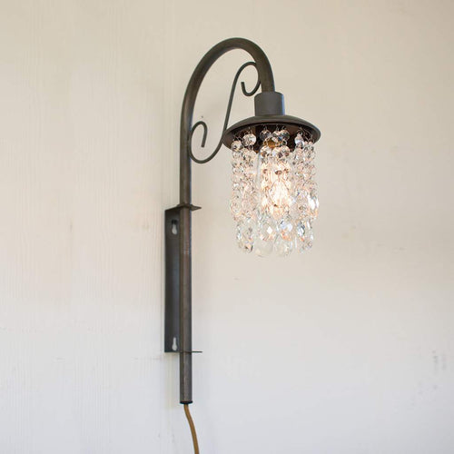 Wall Sconce With Gems - Bello Lane