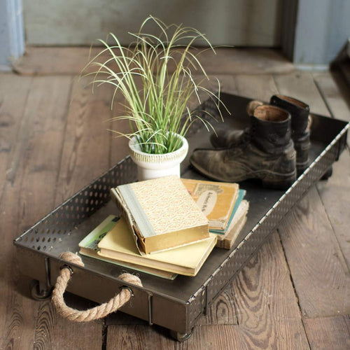 Rolling Iron Boot Tray - Bello Lane