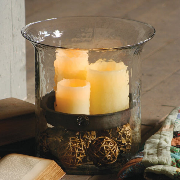 Giant Glass Cylinder Candleholder