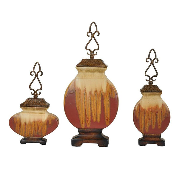 Dexter Lidded Vases - Bello Lane