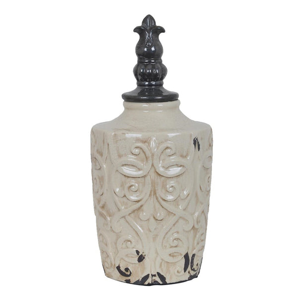 Tuscan  Lidded Vase - Bello Lane