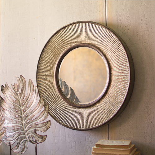 Antique Round Mirror