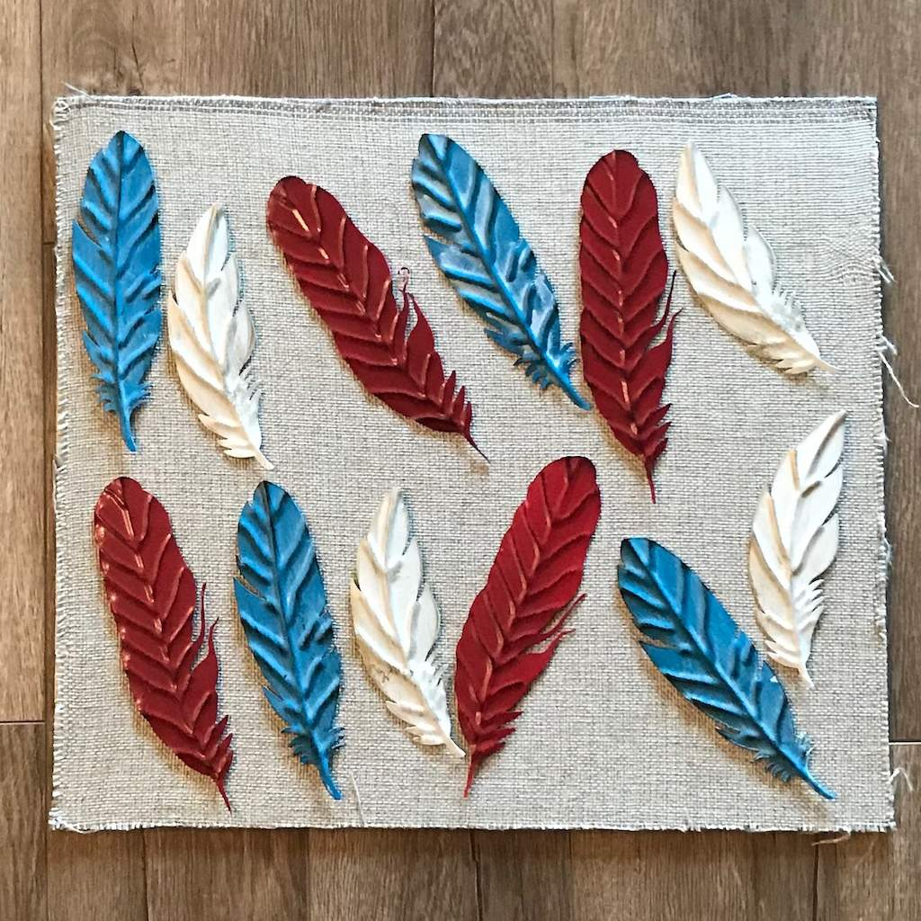 Metal Magnet Feathers