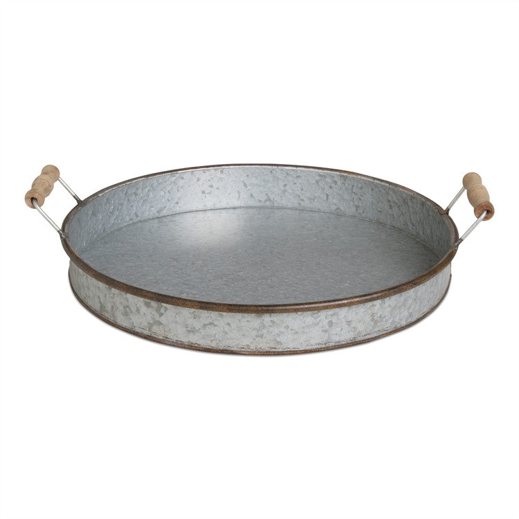 Galvanized Round Tray - Bello Lane