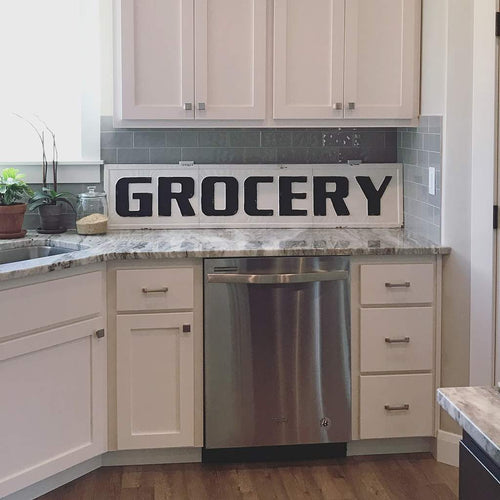 Farmhouse 'Grocery' Sign