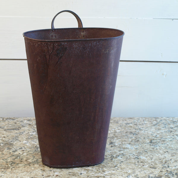 Rustic Metal Door Bucket