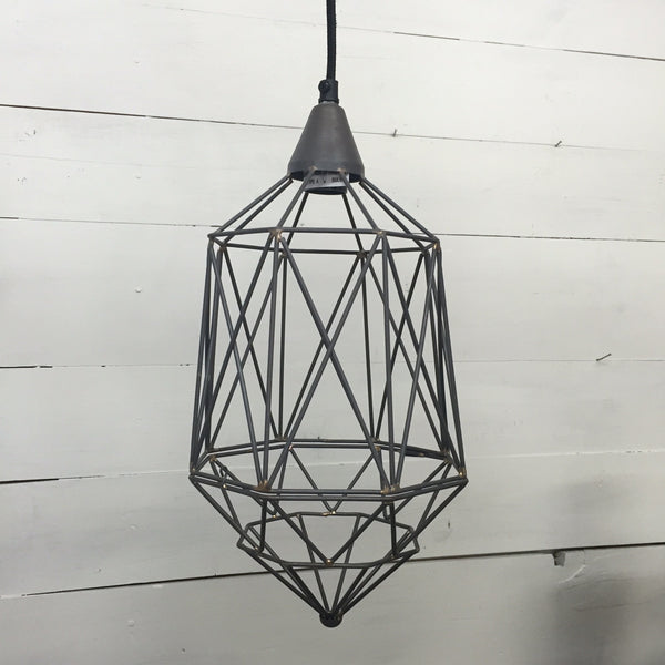 Industrial Caged Pendant Light