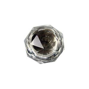 Clear crystal resin drawer pull knob from Bello Lane Home Decor