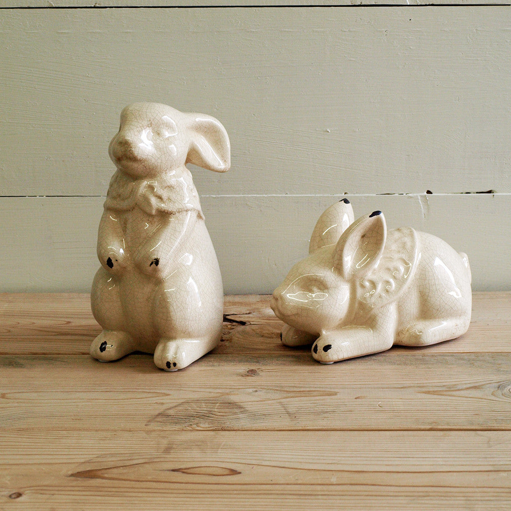 Rabbit Statues, set of 2 - Bello Lane
