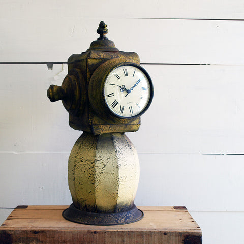 Yellow Fire Hydrant Clock