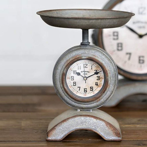 Farmhouse Kitchen Scale Clock