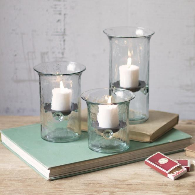 Glass Votive Cylinders Set