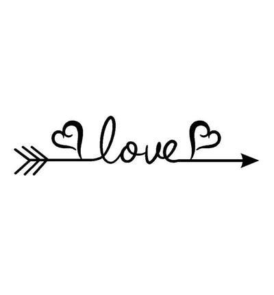 Love Arrow Decal