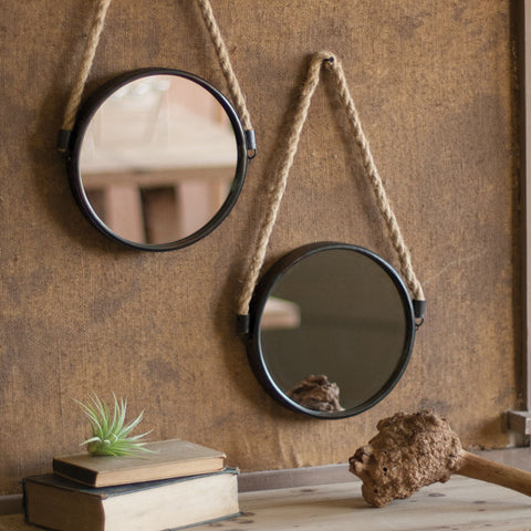 Mirror With Rope Hanger
