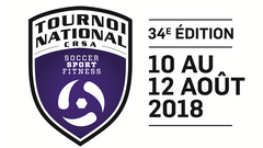 Logo Tournoi National CRSA Soccer Sport Fitness 2018 34e edition
