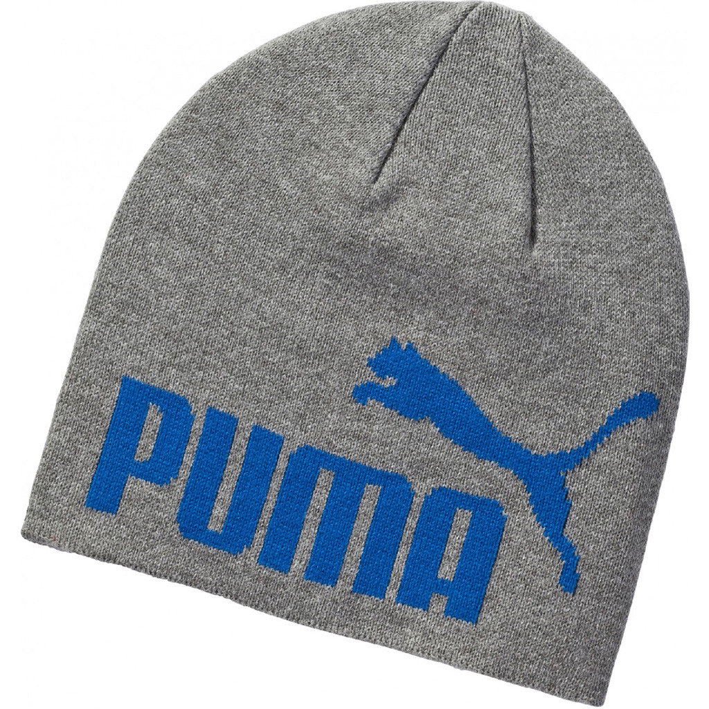 Tuque PUMA Essential Big Cat No 1 Logo Beanie grise Soccer Sport Fitness