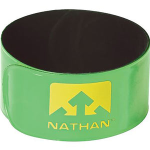 Nathan Reflex runner's reflective snap bands green