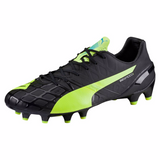 Puma evoSpeed 1.4 FG soccer cleats FG black yellow