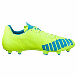 Puma evoSpeed 4.4 FG soccer cleats yellow blue lv
