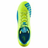 Puma evoSpeed 4.4 FG soccer cleats yellow blue uv