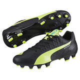 Puma evoSpeed 4.4 FG soccer cleats black yellow pair