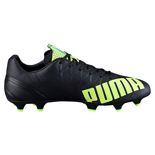 Puma evoSpeed 4.4 FG soccer cleats black yellow lv