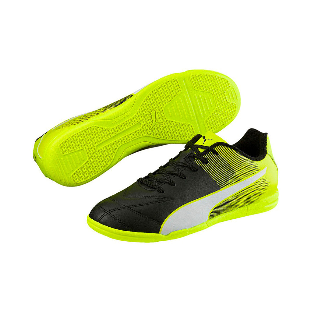 Puma Adreno II IT indoor soccer shoes black yellow