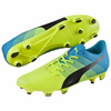 PUMA evoPOWER 3.3 FG soccer cleats yellow blue pair