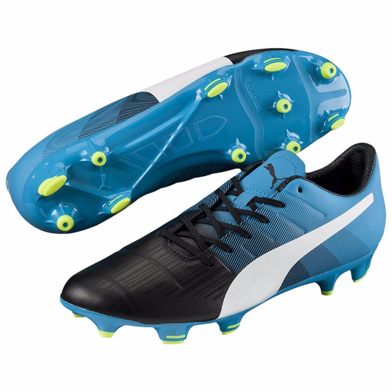 PUMA evoPOWER 3.3 FG soccer cleats blue black pair