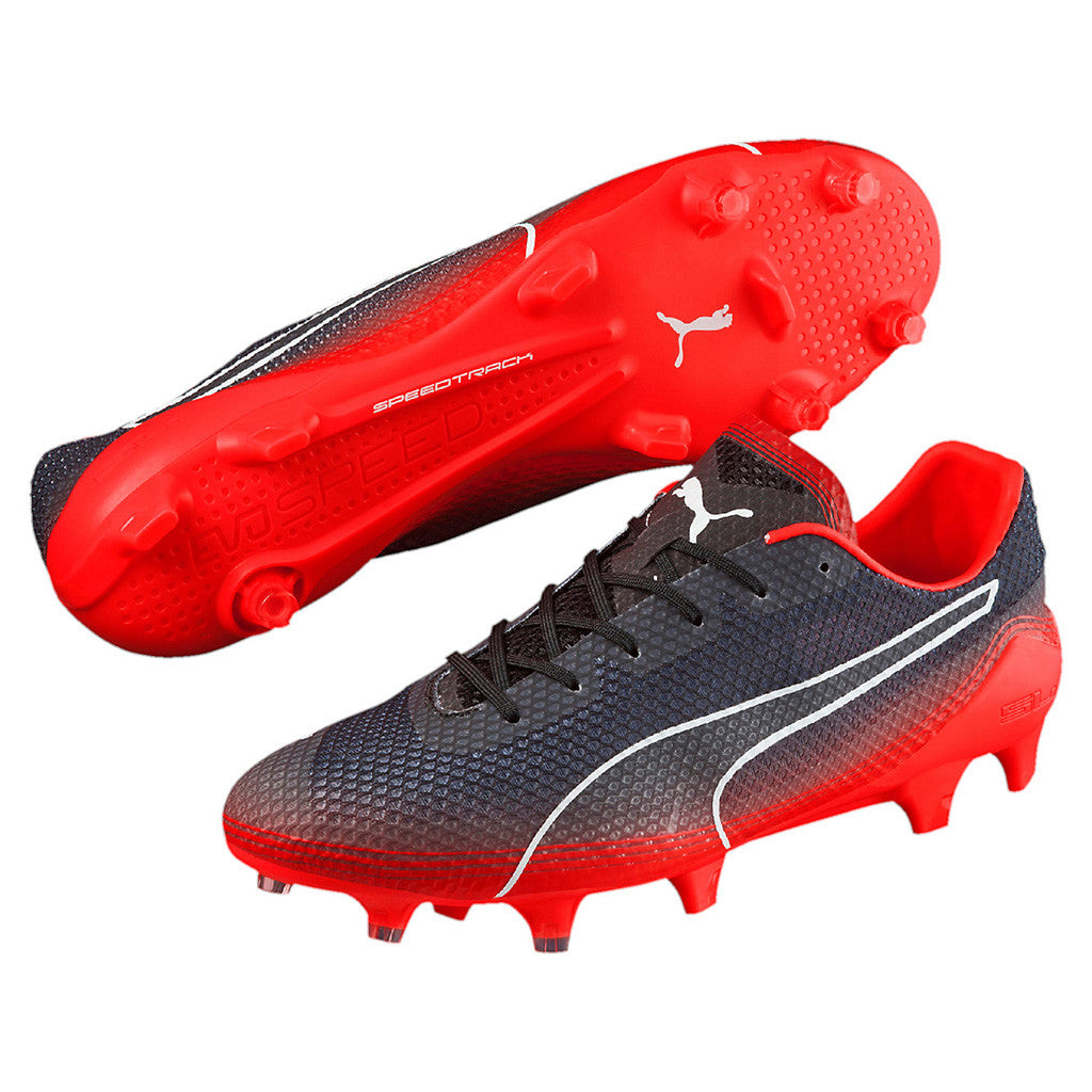 Puma evoSPEED Fresh FG soccer cleats red black