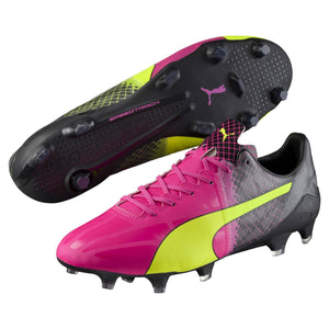 puma evospeed rose et jaune