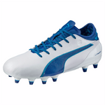 PUMA evoTOUCH 2 FG soccer cleats white blue
