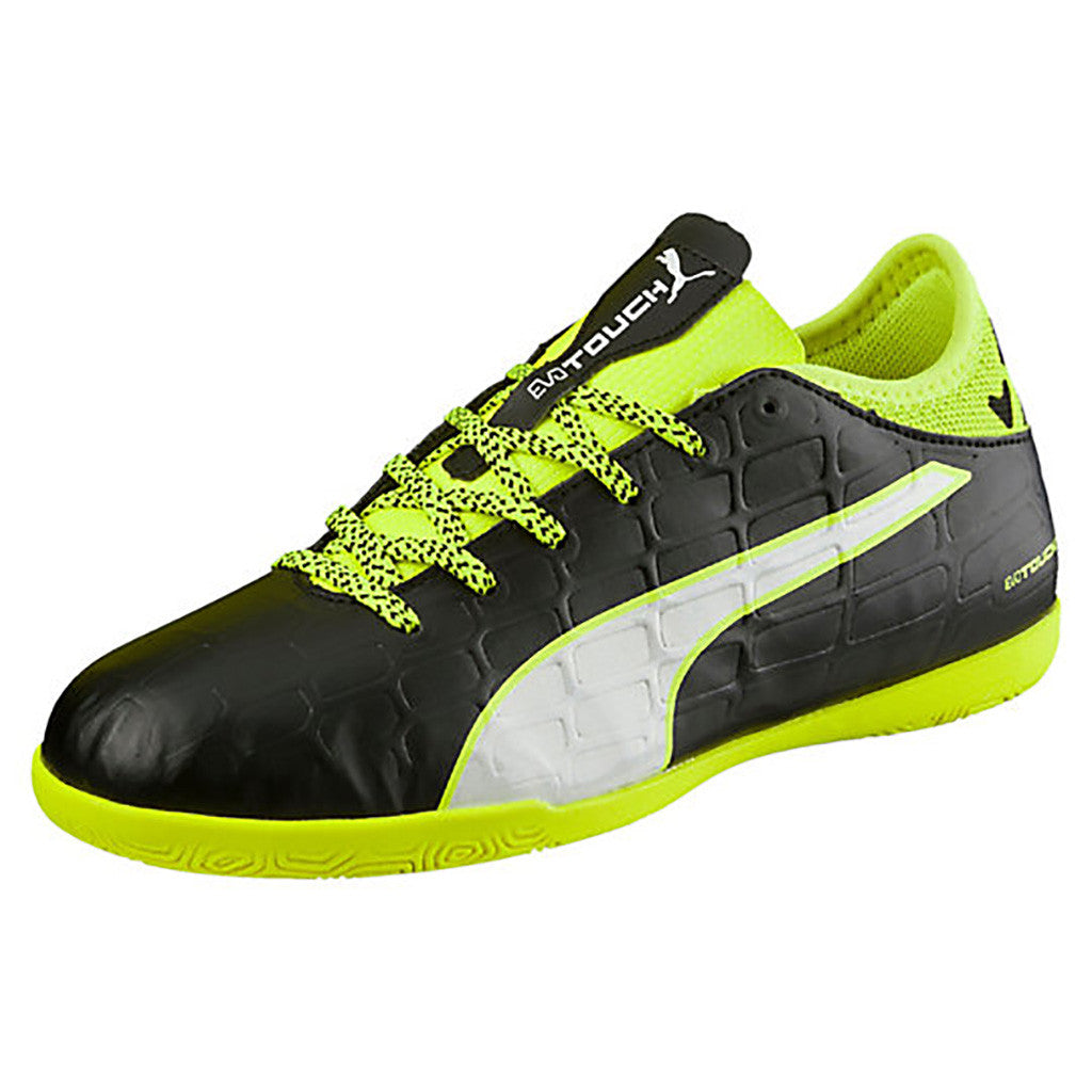Puma evoTOUCH 3 IT JR indoor soccer shoes black yellow