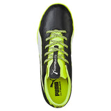 Puma evoTOUCH 3 IT JR indoor soccer shoes black yellow uv