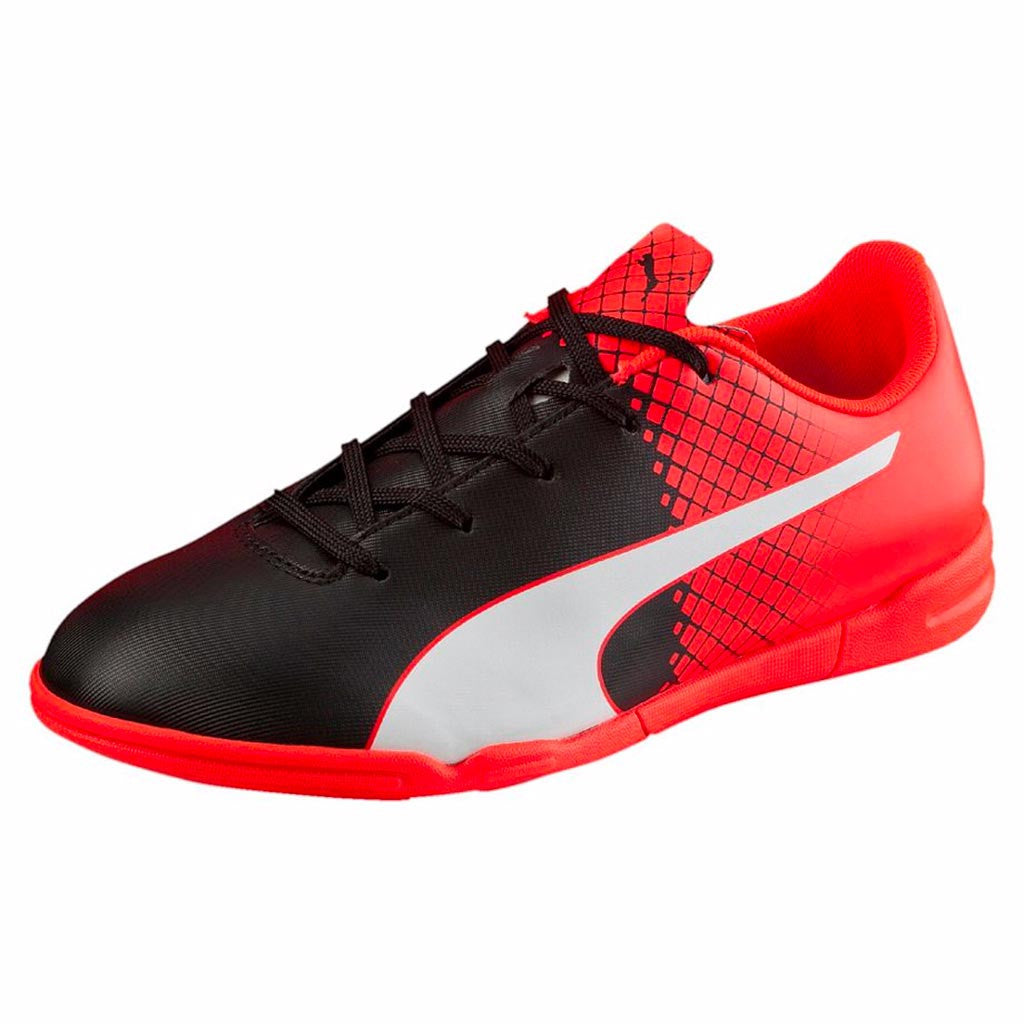 PUMA evoSPEED 5.5 junior Futsal soccer shoes noir rouge blanc