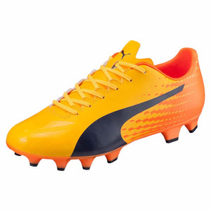 Puma evoSPEED 17.4 FG soccer cleats orange blue