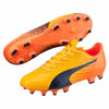 Puma evoSPEED 17.4 FG soccer cleats orange blue pv