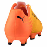 Puma evoSPEED 17.4 FG soccer cleats orange blue rv2