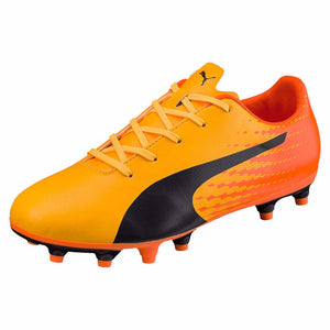 Puma evoSPEED 17.5 FG junior soccer cleats orange bleu lv