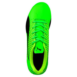 PUMA adreno III junior soccer cleats green black yellow uv