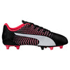 PUMA adreno III junior soccer cleats black white plasma lv2