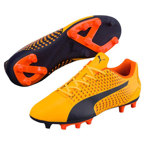 PUMA adreno III junior soccer cleats orange black pair