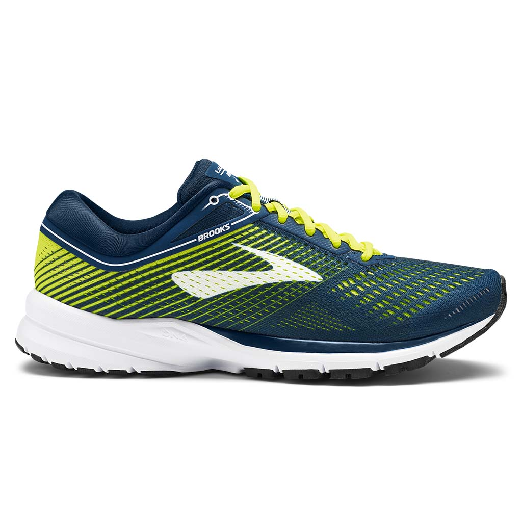 Brooks Launch 5 men's running shoe blue nightlife white
