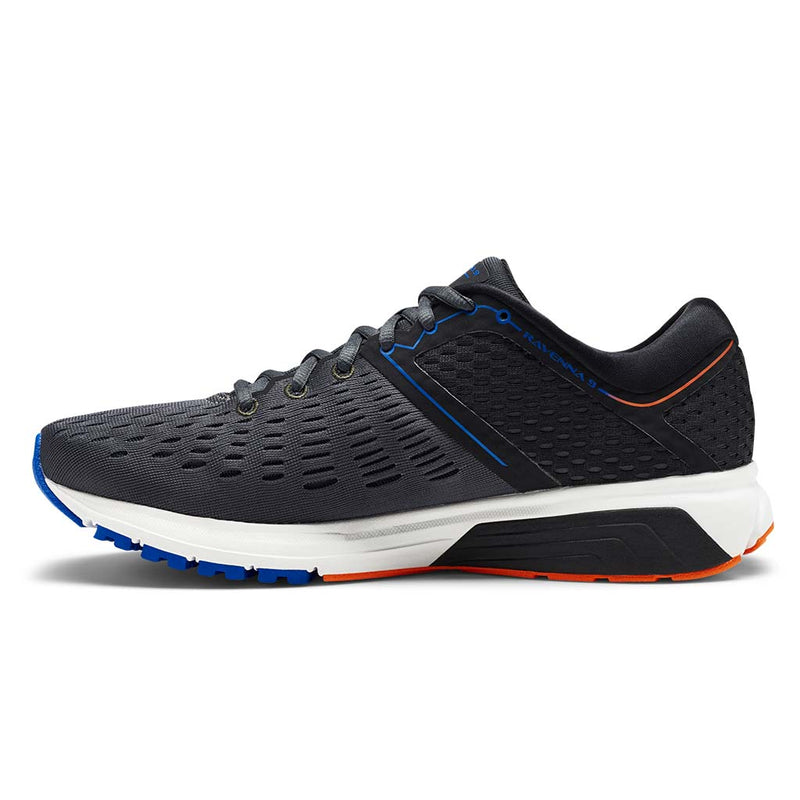 Brooks Ravenna 9 men's running shoes ebony blue orange lv2