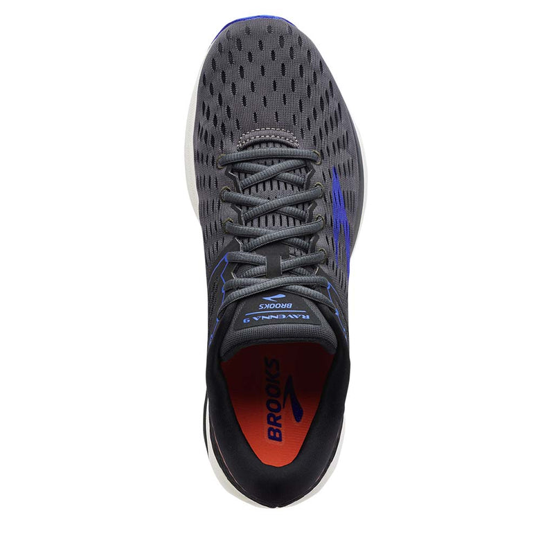 Brooks Ravenna 9 men's running shoes ebony blue orange uv