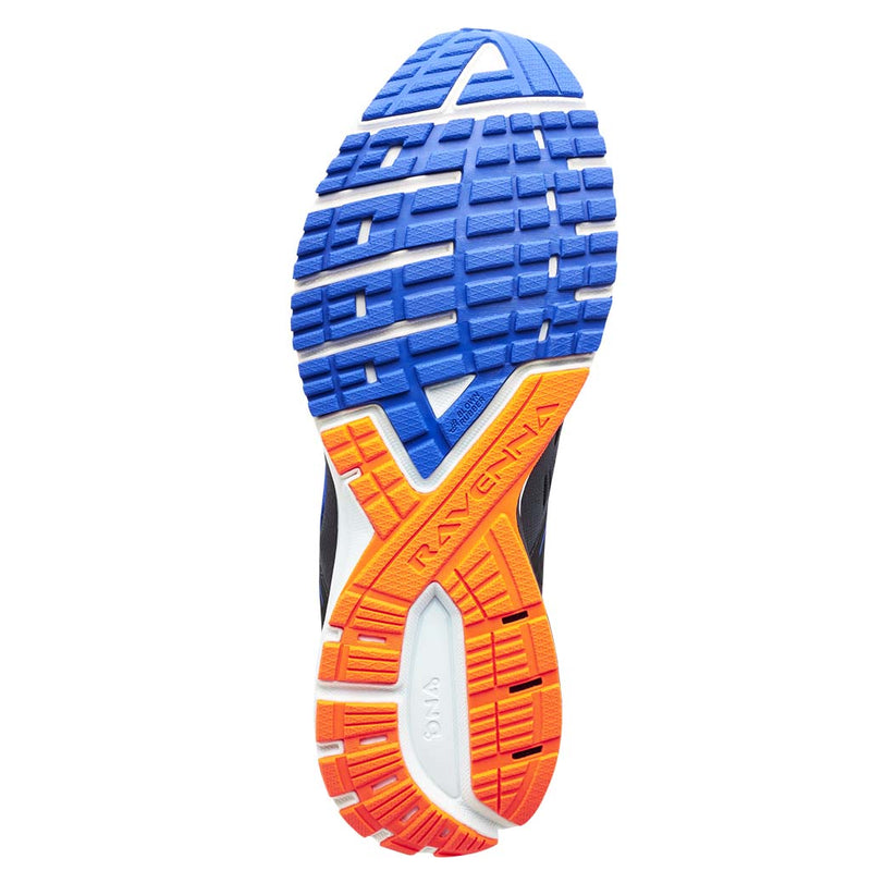 Brooks Ravenna 9 men's running shoes ebony blue orange sole