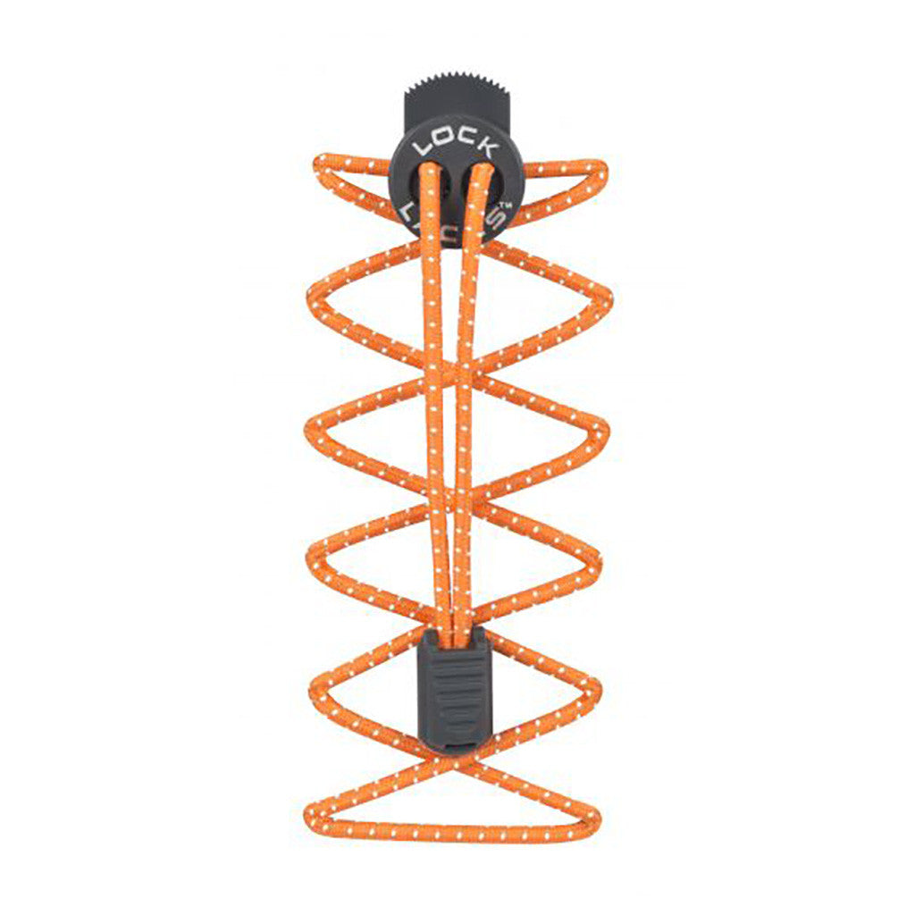 Nathan Lock Laces™ reflective orange