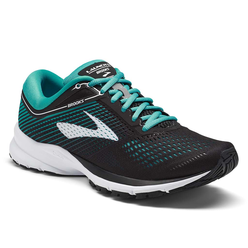 Brooks Launch 5 women's running shoes black teal green white lv